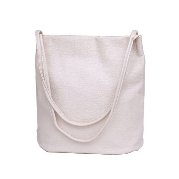 "Soft Leather ""Bucket"" Shoulder Bag - Lovely Mary Bags Store"