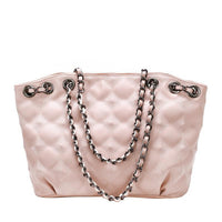Diamond Patterned Medium-Sized Shoulder Bag - Lovely Mary Bags Store