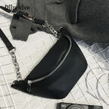 DIINOVIVO Fashion Chain Fanny Pack Waist Bag Bananka Waterproof Antitheft Women Walking Shopping Belly Band Belt Bag WHDV0462 - Lovely Mary Bags Store