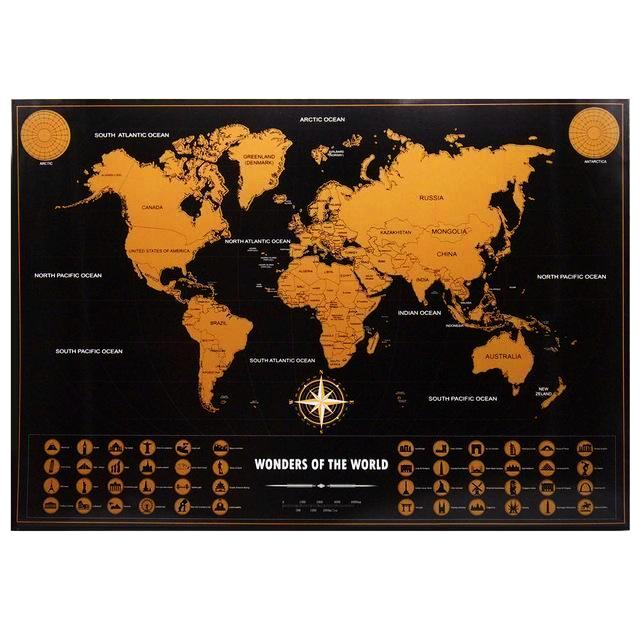 Retro scratch world map wonders of the world edition shopfunk retro scratch world map wonders of the world edition gumiabroncs Images