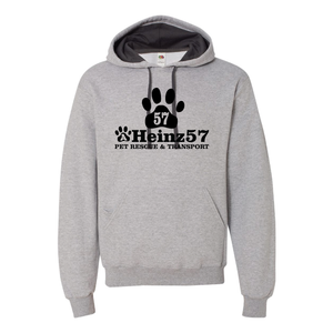 Large Paw Design - Athletic Heather Unisex Hoodie