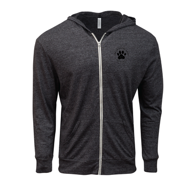 57 Logo Embroidered on Left Chest on Full-Zip Unisex Triblend Light Hoodie