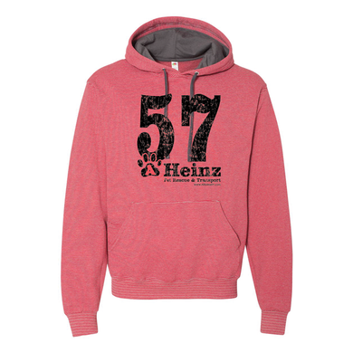 57 Full Front Logo - Striped Unisex Hoodie - 2 Colors