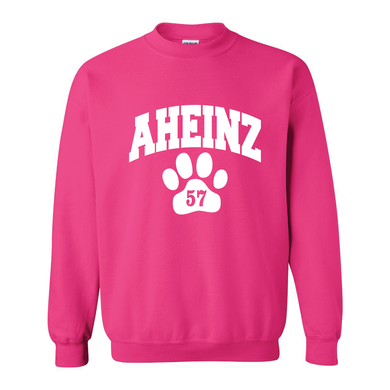 AHeinz57 Flock Collegiate Design Crewneck Sweatshirt - 4 Colors