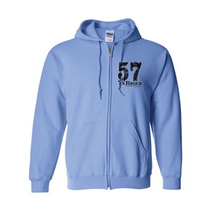 57 Left Chest Full Zip Unisex Hoodie - 4 Colors