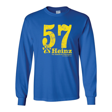 57 Full Front Long Sleeve T - 5 Colors