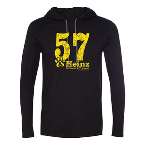 57 Full Front - Unisex Long Sleeve Hoodie T - 4 Colors