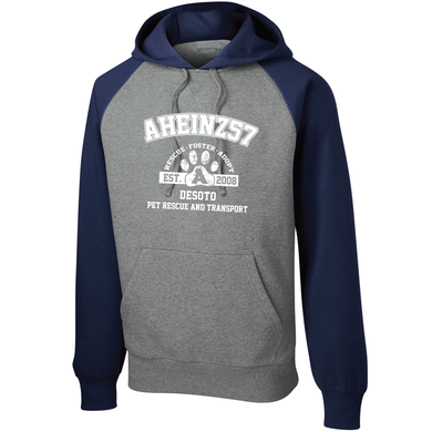 AHeinz57 - Raglan Colorblock Pullover Hooded Sweatshirt