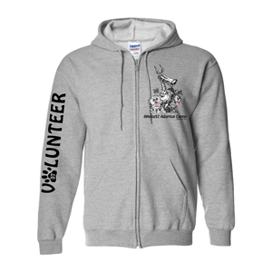 NEW!!! Adoption Center VOLUNTEER Full Zip HOODIE S - 5XL