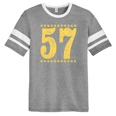 Super Soft Vintage T-shirt with Large 57 on the Front & Back