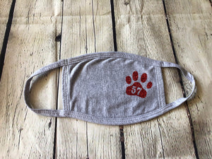 Adult Face Mask with RED GLITTER Paw