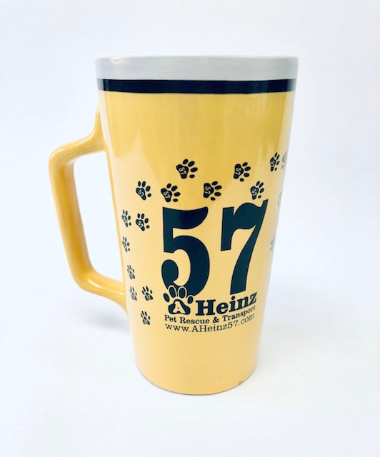 AHeinz57 Yellow 15 oz. Ceramic Coffee Mug