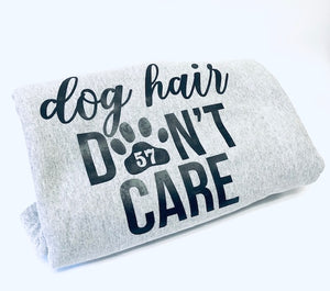 "AHeinz57 ""Dog Hair Don't Care"" Hoodie Fleece Stadium Blanket"