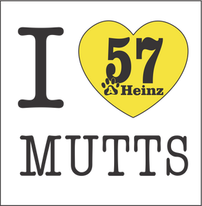 I Heart Mutts Temporary Tattoos - 4 PACK