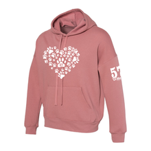 Heart of Paws Unisex Hooded Sweatshirt