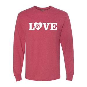 LOVE (w/ Paw Print or Heart) Long Sleeve T-Shirt