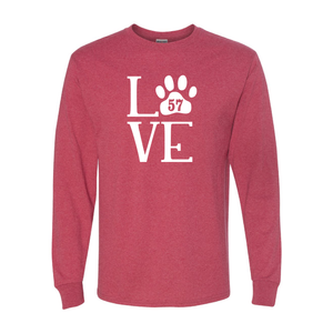 LOVE w/ Paw Print Long Sleeve T-Shirt