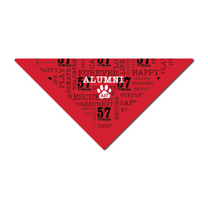 ALUMNI - AHeinz57 Red Dog Bandana 22""