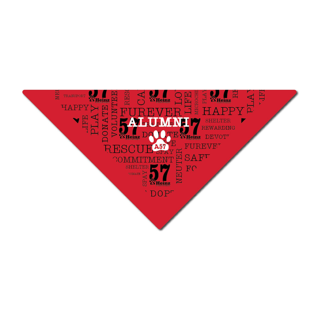 ALUMNI - AHeinz57 Red Dog Bandana 22