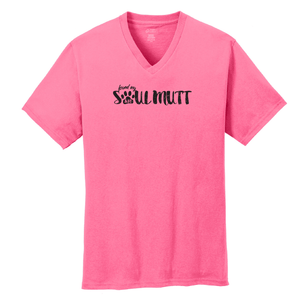 ON SALE thru 2/1/21 - Found My Soul Mutt V-Neck T-Shirt  SIZE small - 4XLarge