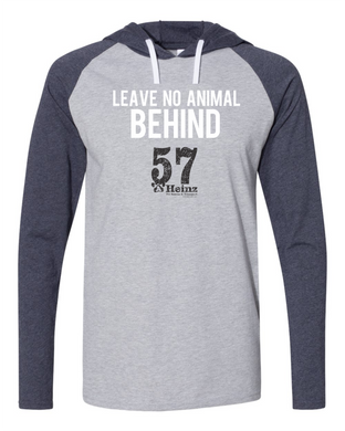 ON SALE Leave No Animal Behind LONG SLEEVE Hooded Tee S - 3XL