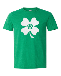 Z A57 St. Patrick's Day Glitter Tee - SHAMROCK or LUCKY DOG