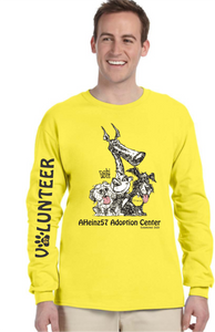 NEW!!! Adoption Center VOLUNTEER Long Sleeve Tee S - 3XL