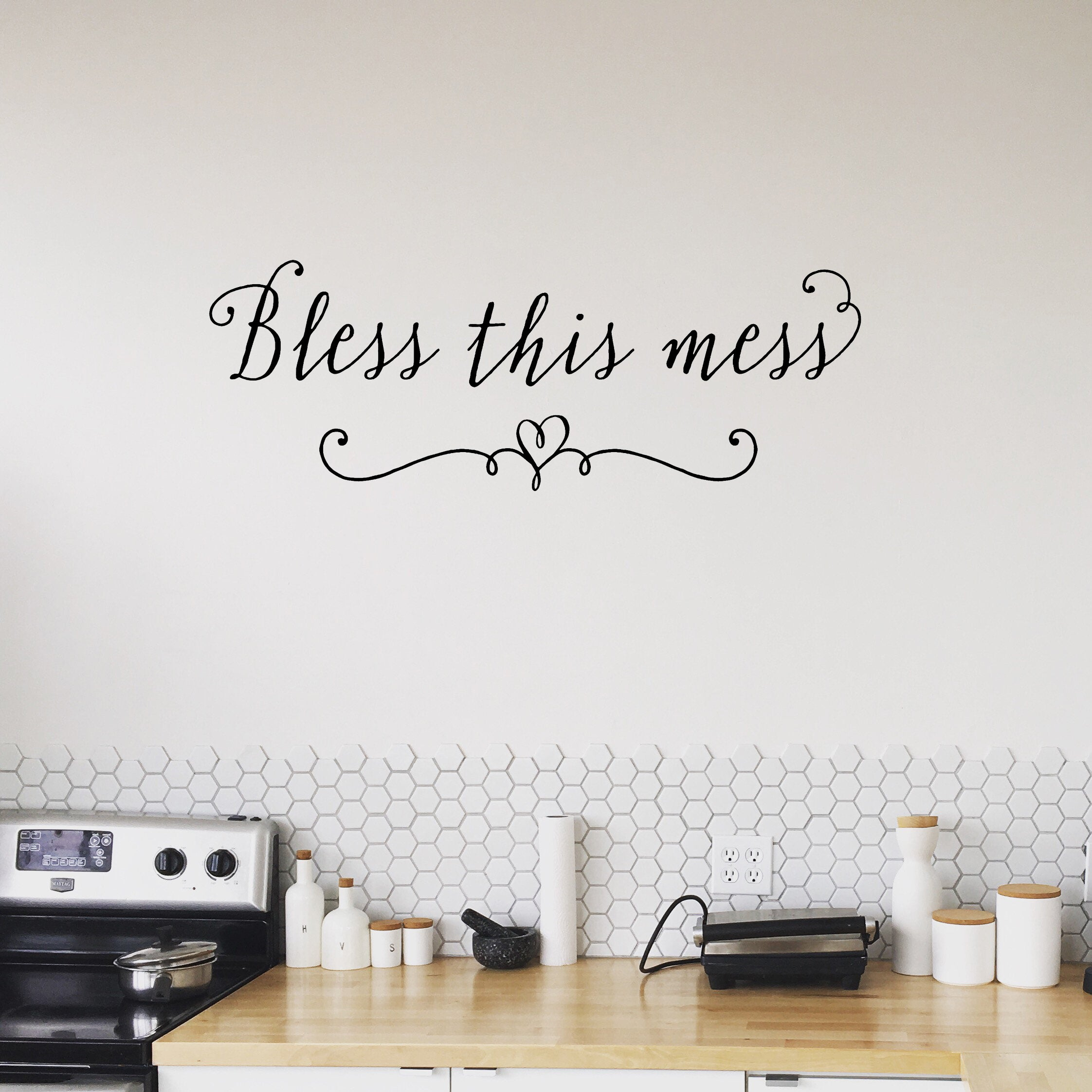 Bless This Mess Wall Decal Home Decal Playroom Decals Home
