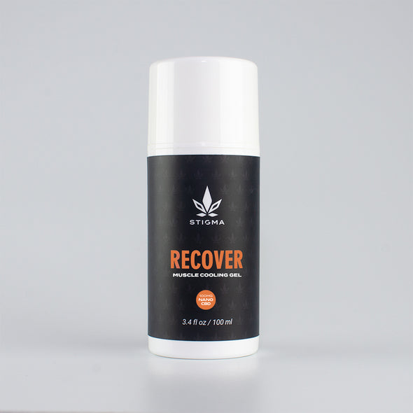 Stigma Recover Muscle Cooling Gel w/ Nano CBD | 100% US Grown Hemp Oil | THC FREE