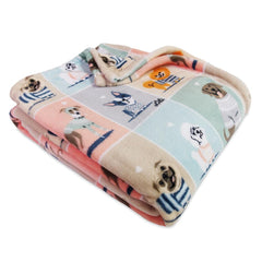 Lili Chin - Puppies in Sweaters Plush Throw