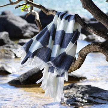 Seaside Knit Throw Blanket - Easy Care