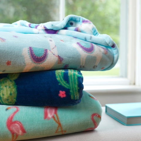 Playful print throws