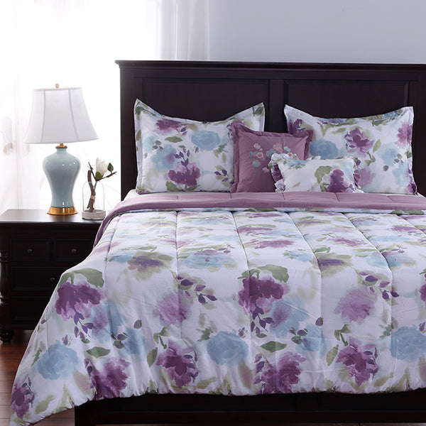 Reimagine Floral Five Piece Comforter Set