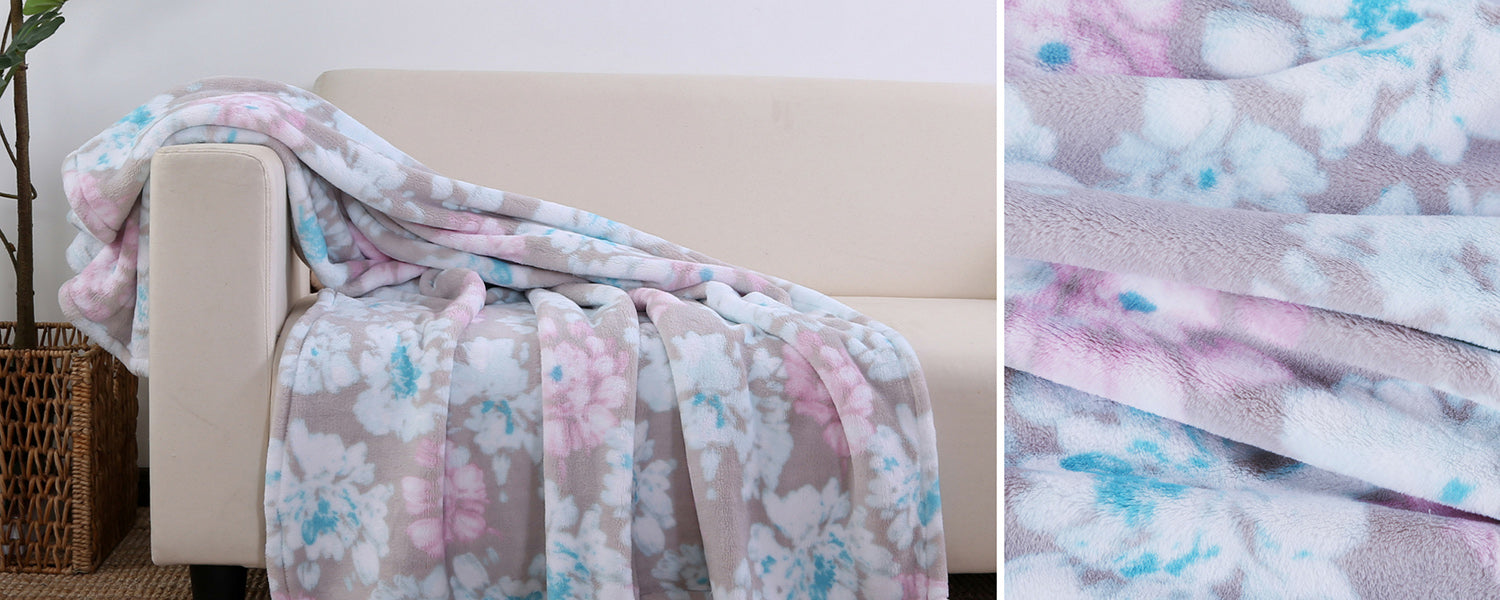 Romantic Collection - Meredith Floral Throw