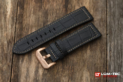 Croc style strap with brown stitching