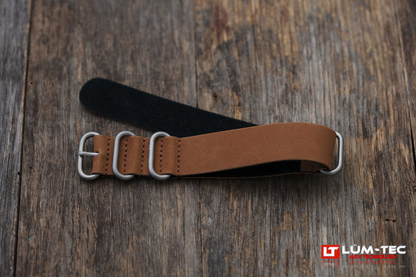 Brown Leather Military SS Strap