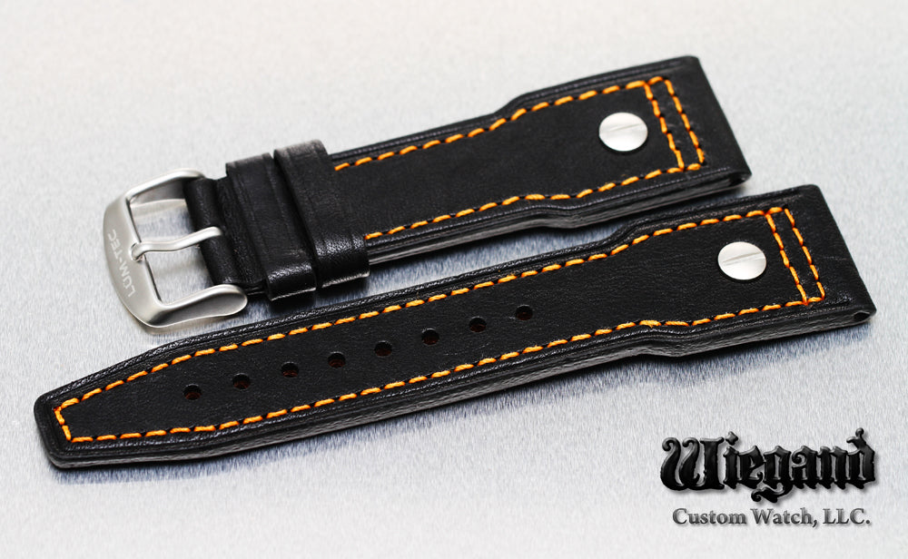 24/20 Orange Stitch Leather Strap SS