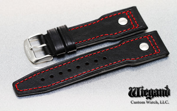 24/20 Red Stitch Leather Strap SS