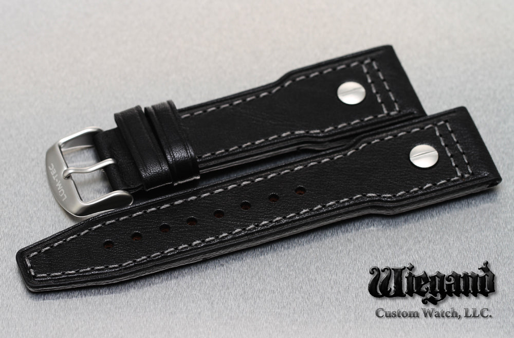 24/20 Gray Stitch Leather Strap SS