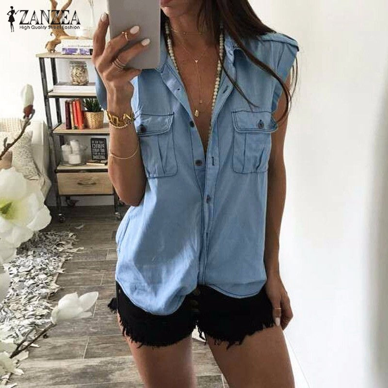 Casual Chambray Button Up