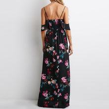 Load image into Gallery viewer, Off-Shoulder Floral Maxi With Straps