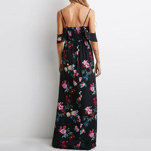 Off-Shoulder Floral Maxi With Straps