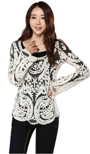 Scoop Neck Lace Blouse ***PRE-ORDER***