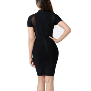 'Daring' Mesh Panel Bodycon