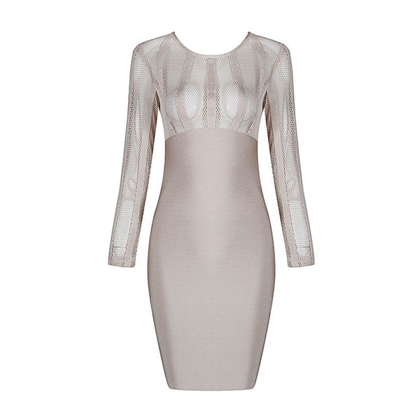 'Slay' Mesh Panel Bodycon