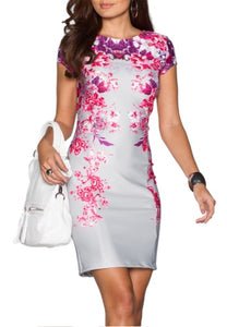 'Floral Cascades' Structured Dress ***PRE-ORDER***