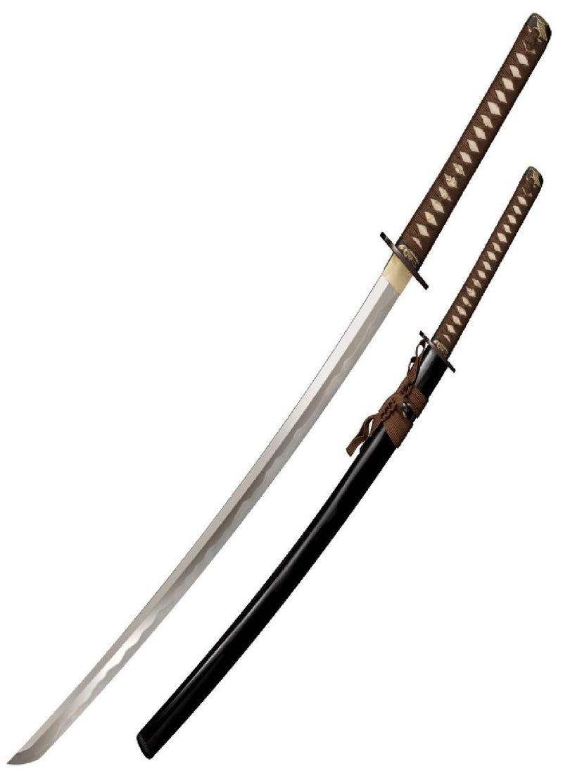 Samurai Katanas 26.5in Carbon Steel Blade w-Wood Display