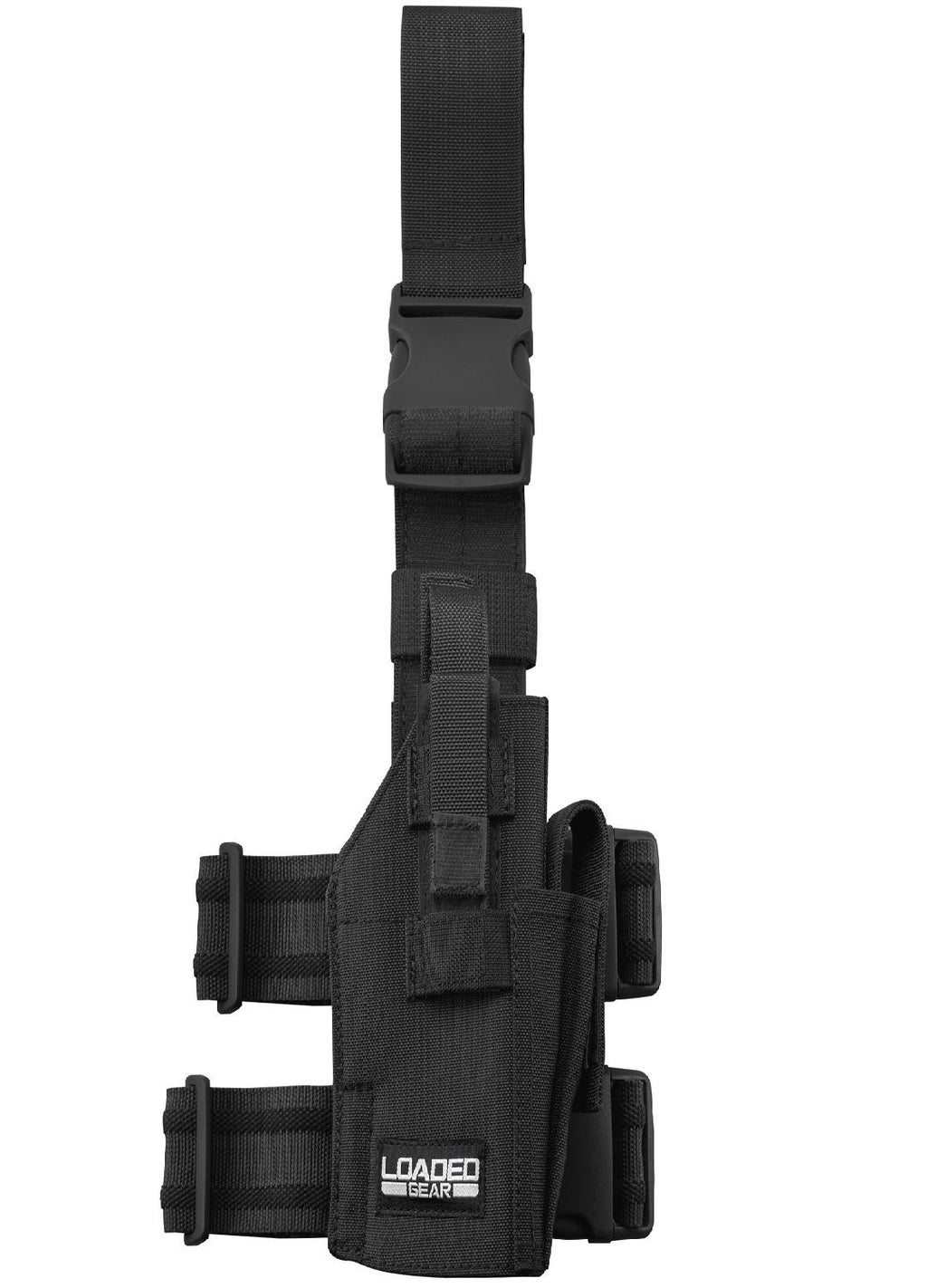Barska Loaded Gear CX-500 Drop Leg Handgun Holder-Black