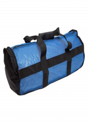 Nat Geo Clamshell Deluxe Drawstring 2Pocket Duffle-Blue-Blk