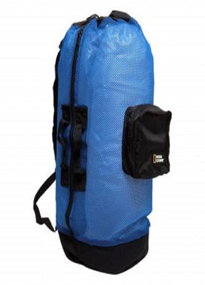 Nat Geo Clamshell Mesh Backpack Dlx 5 Pocket -Bl-Bk